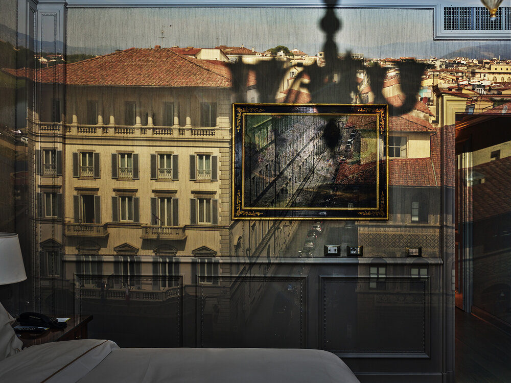 """Abelardo Morell, """"Camera Obscura: View of Florence from Hotel Exelsior, Italy,"""" 2017. (Courtesy Fitchburg Art Museum)"""
