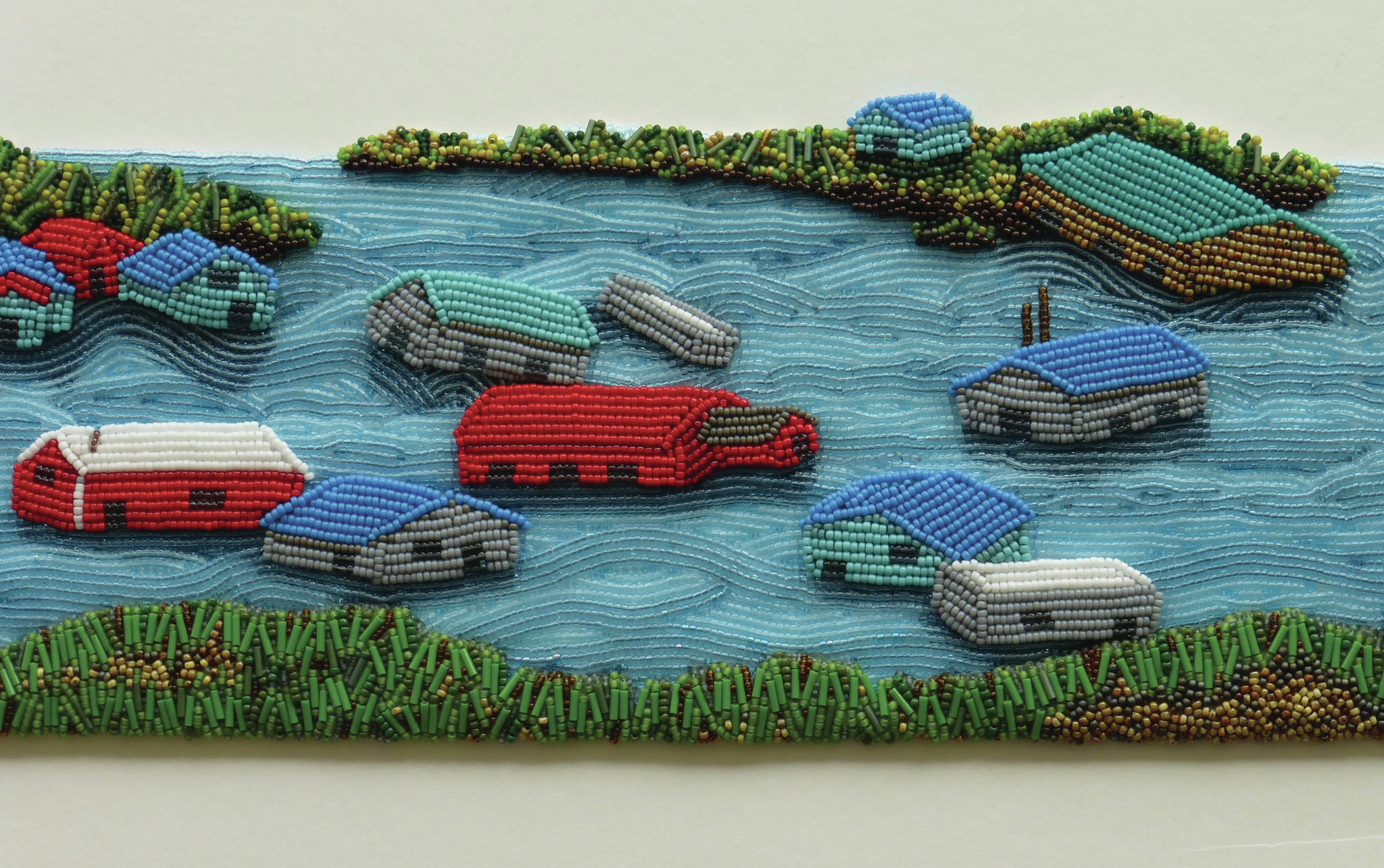 Beth Blankenship's bead work is part of the Circle of Protection exhibit opening Friday, Sept. 3, 2021, at Bunnell Street Arts Center in Homer, Alaska. (Photo courtesy of Bunnell Street Arts Center)
