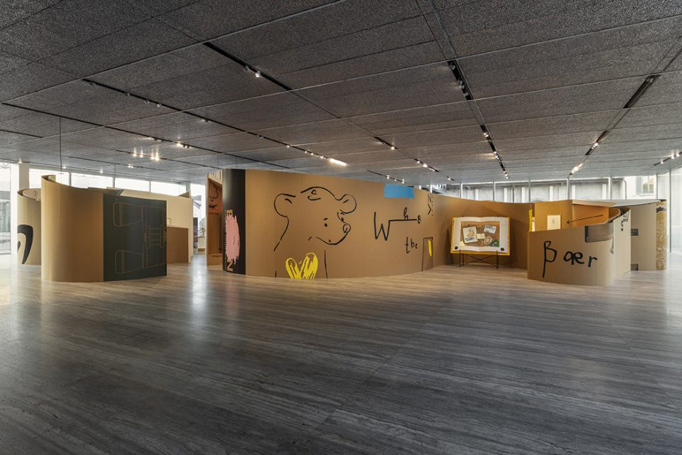"""Who the Bær: Simon Fujiwara"" at the Fondazione Prada, Milan, installation view. Photo by Andrea Rossetti, courtesy of the Fondazione Prada, Milan."
